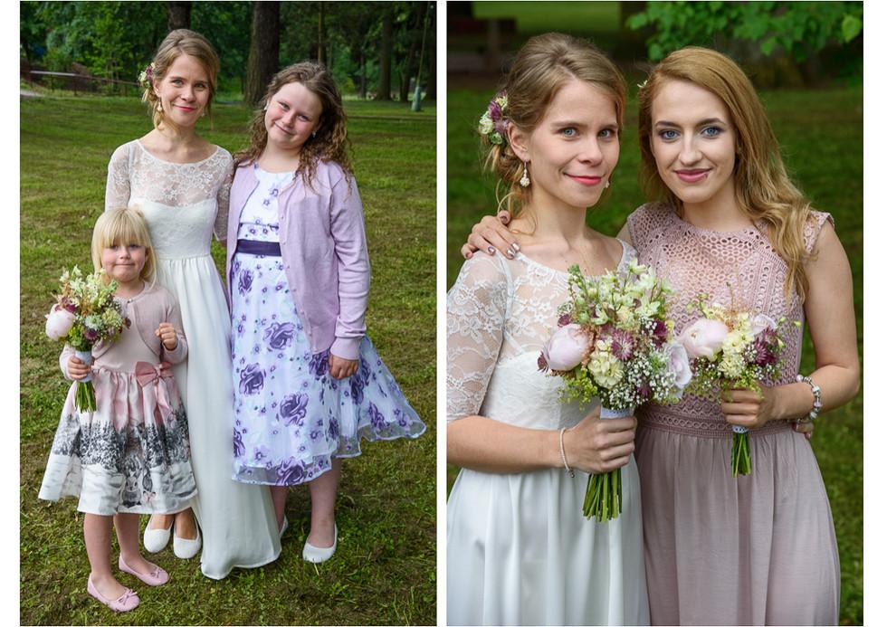 Portréty nevěsty s družičkami
