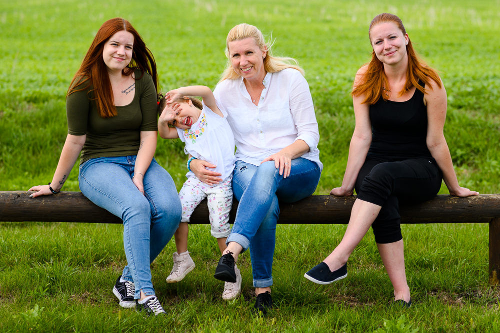Rodinné focení na fitstezce v Hněvotíně u Olomouce.