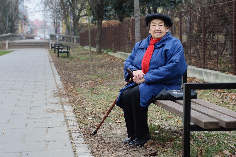 Paní Daruše Burdová vypráví svůj příběh pro projekt Humans of Olomouc.