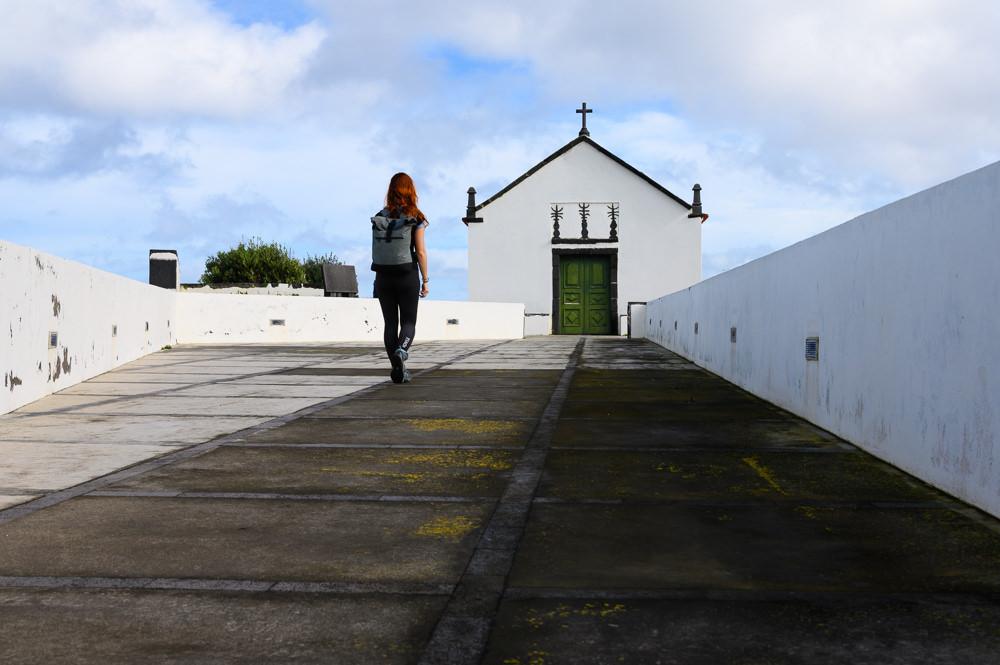 Small beautiful church at Sao Miguel, Azores.
