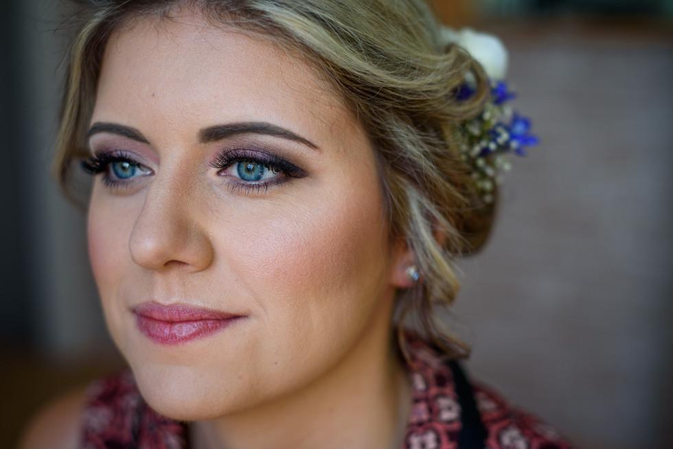 Make-up nevěsty v její svatební den