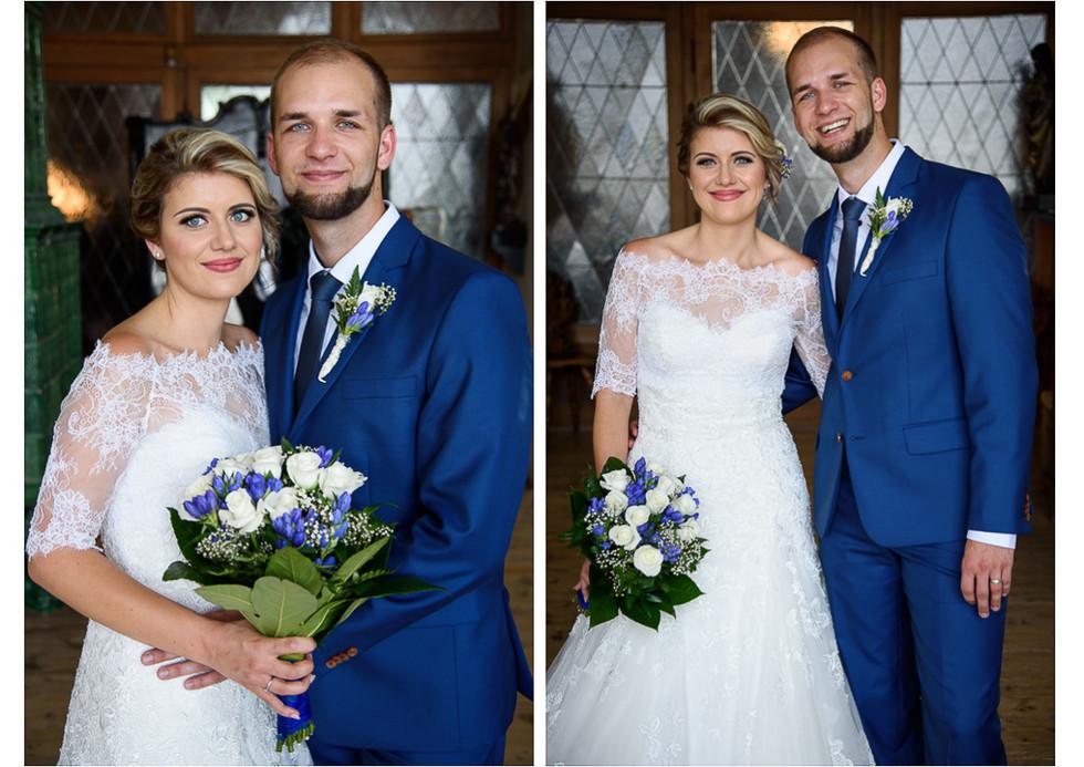Portréty novomanželů na hradě Šternberk