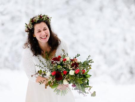Majda & René: zimní svatba v Beskydech