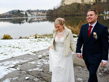 Jana & Petr: Zimní svatba Prostějov, Plumlov
