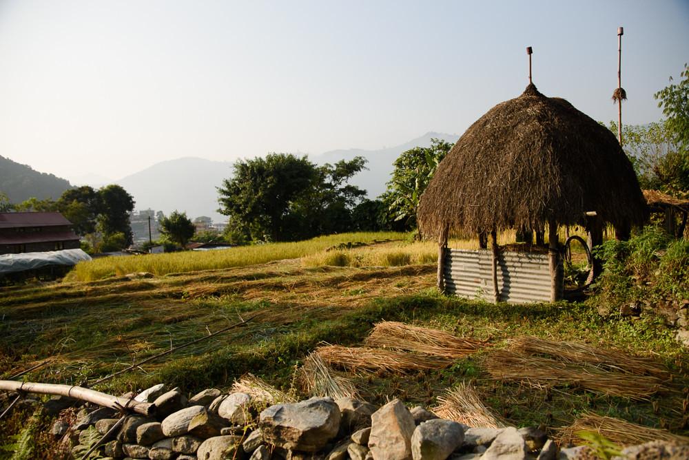 Cesta nepálskými vesničkami.