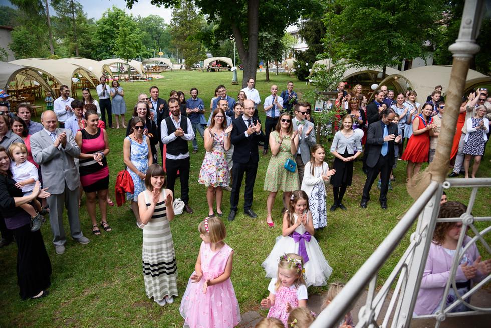 Radost svatebčanů