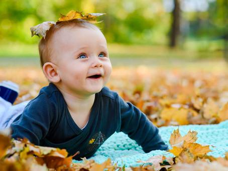 Podzimní rodinné focení v Bezručových sadech