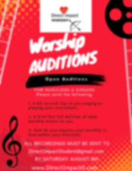 Direct Impact Worship Auditions - Made w