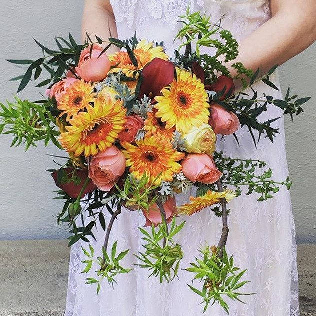 Wedding bouquet for early summer