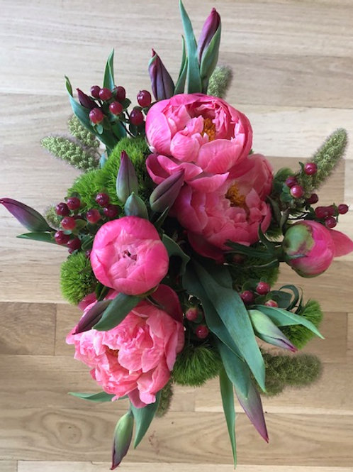 Peonies and Tulips