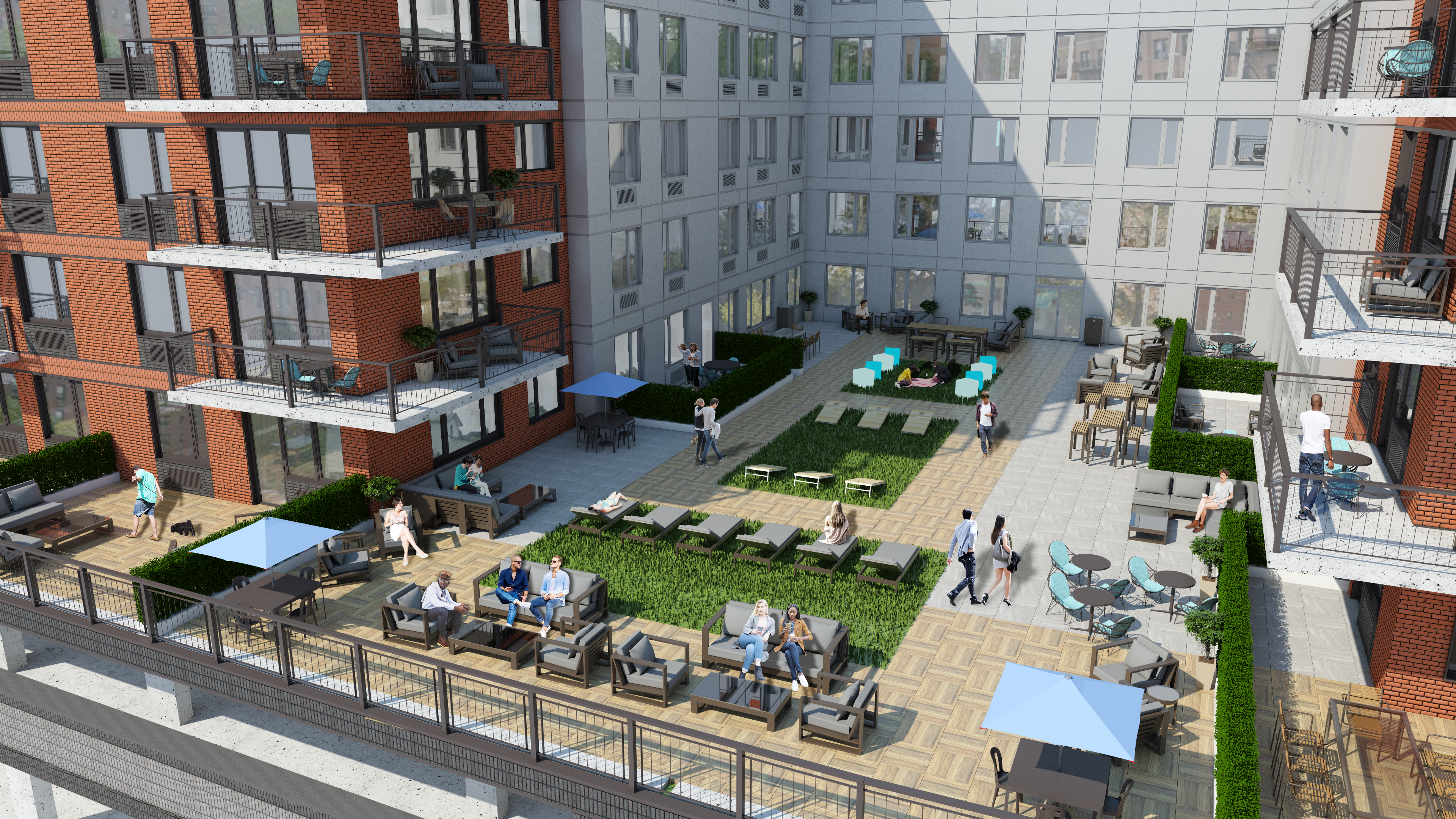 Interior Courtyard Rendering