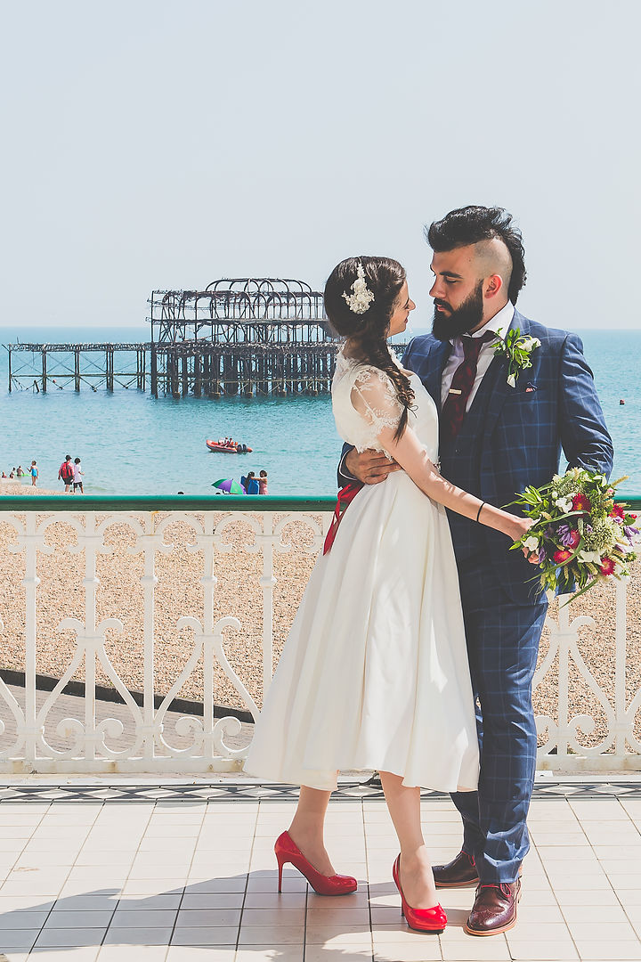 wedding brighton west pier