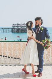 wedding brighton west pier