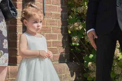 bride little girl