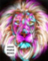 Digital painting lion photo print