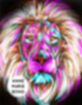 Digital painting lion photo print