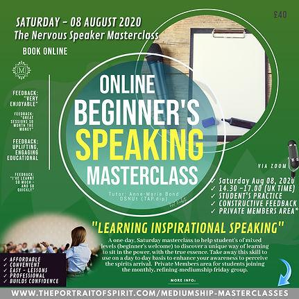 The Nervous Inspirational Speaker Master
