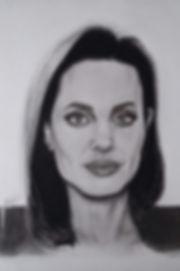 Angelina Jolie Graphite Portrait FanArt AmBond