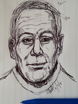 Spirit Portrait in Biro Pen