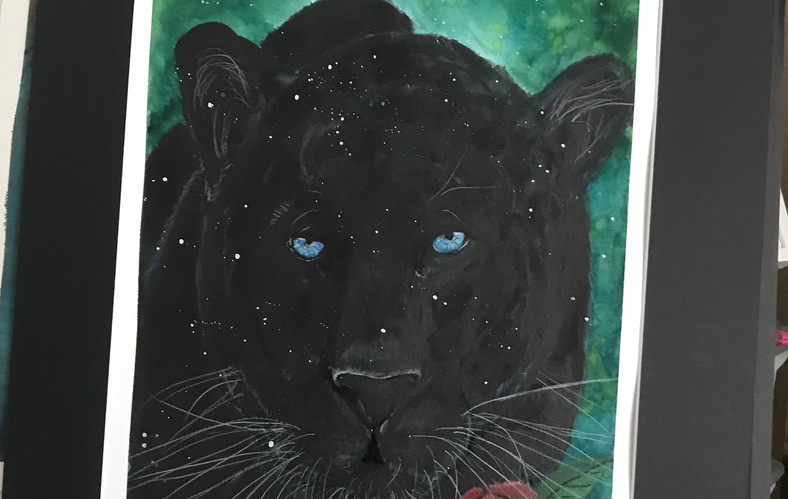 The Black Panther Painting