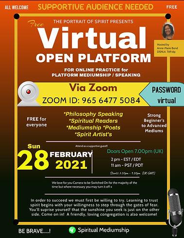 Mediumship Demonstration Online Virtual Open Platform 2021