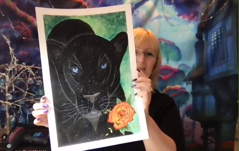 The Black Panther Painting (Lorna H)