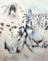 leopard waterpainting
