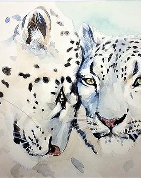 leopard waterpainting