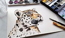 leopard spirit art