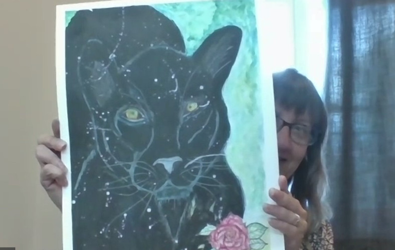 The Black Panther Painting (Sharon S)