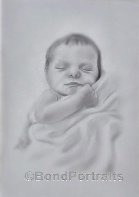 Graphite Baby Portrait AMBond
