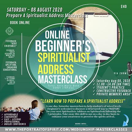 Speaking Masterclass 08 August SPIRITUAL