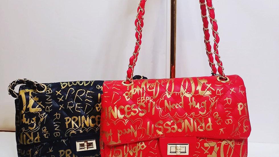 Graffiti hand bag