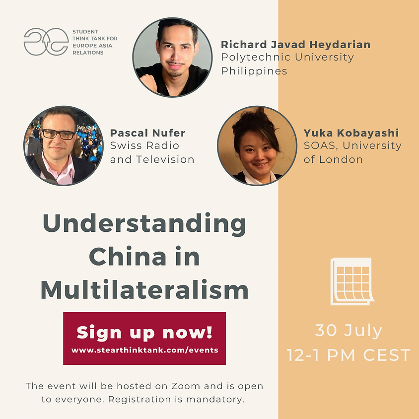Panel Discussion: Understanding China in Multilateralism