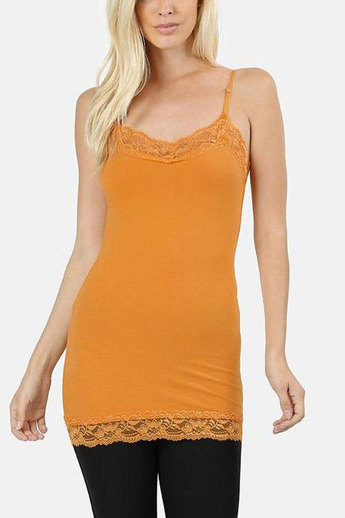 Lace-Trimmed Cami