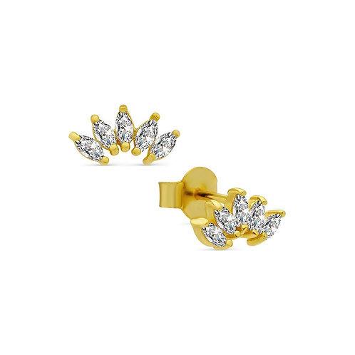 Brilliance Wings Stud Earrings