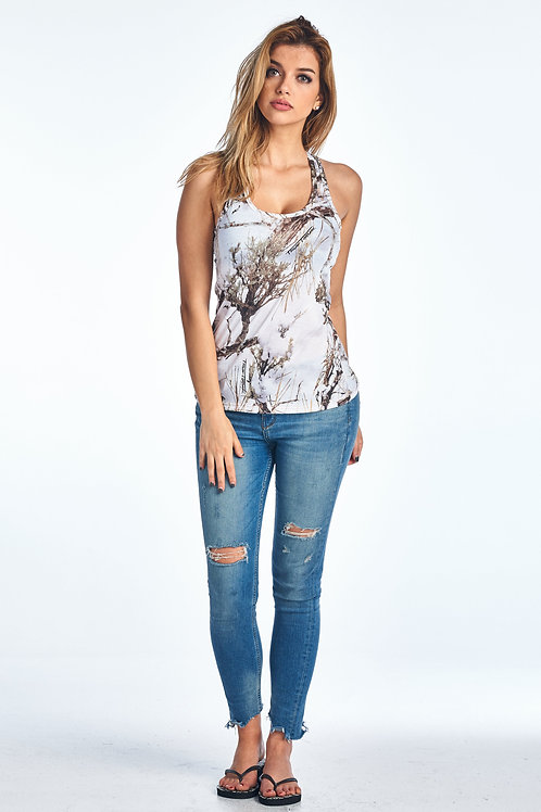 Authentic True Timber White Tank Top