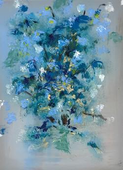 """Blue Silk Flower"""