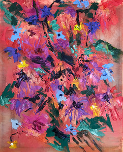 """""""Colorful Red Silk Flowers"""""""