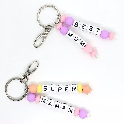 """Porte-clés """"Super Maman"""""""