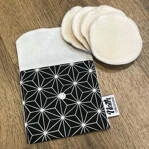 Cotons démaquillants + pochette