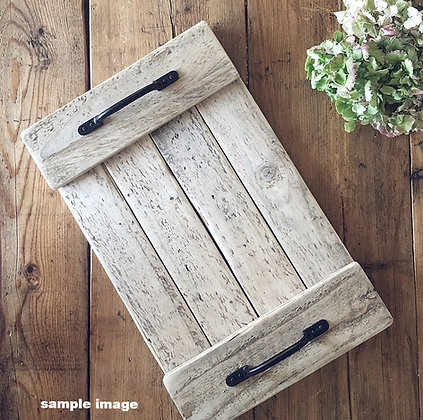 Charlotte Rustic Tray (natural wood)