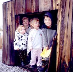 More kids at the Lamb Shack at TMR Bartley Ranch