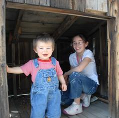 Kids in the lamb shack