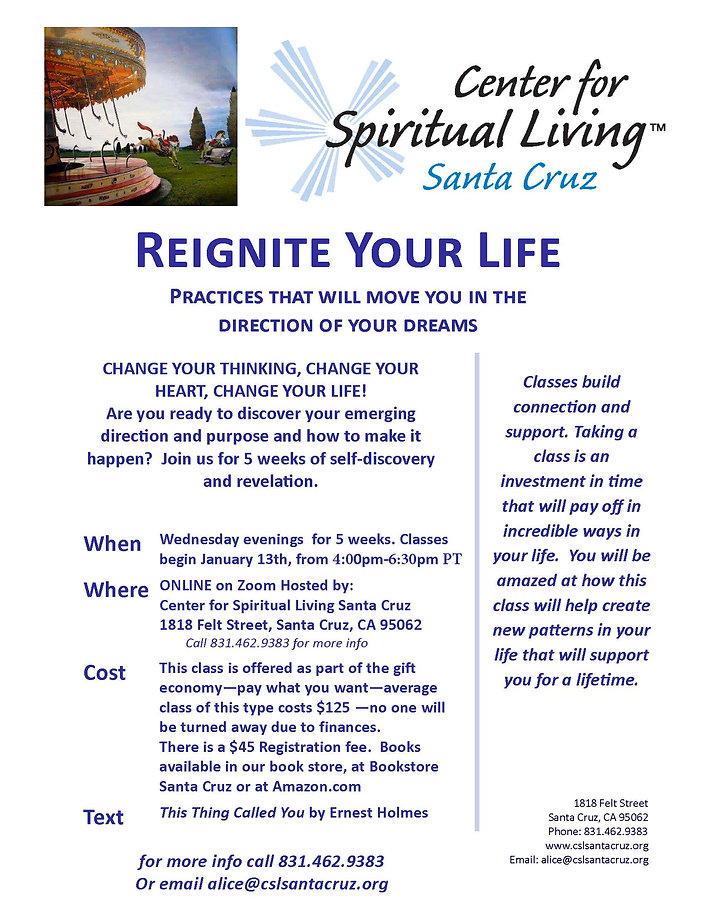 Reignite Your Life 2021 flyer  new time.