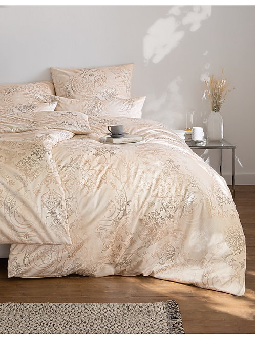 kokvilnas gultas veļa Gregorio sand