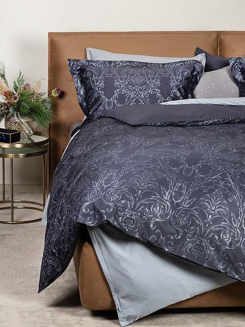 satīna gultas veļa Arlekino anthracite