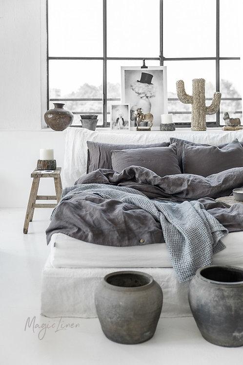 lina gultas veļa Charcoal gray