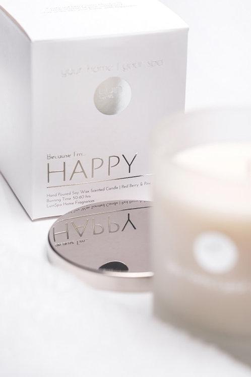 aromātiskā svece Happy