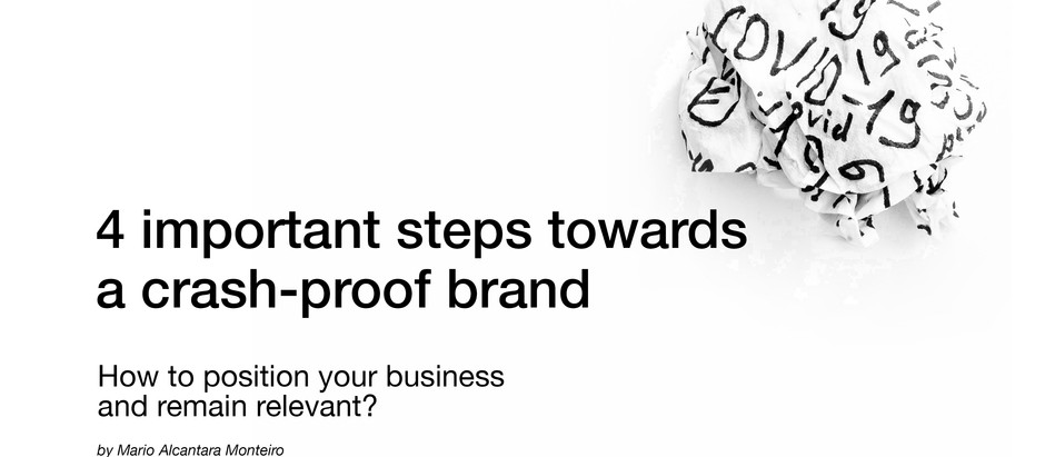 Crisis Brand Strategy - 4 important steps towards a crash-proof brand